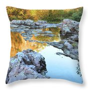 Reflections On Rocky Creek 2 Throw Pillow