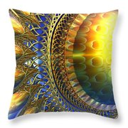 Reflections On The Day Just Beginning Throw Pillow