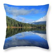 Reflections On Trillium Throw Pillow
