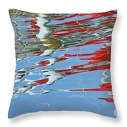 Reflections - Red White Blue Throw Pillow