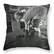 Reflections Throw Pillow by Savannah Fonner