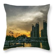 Reflections Singapore Throw Pillow