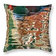 Reflections Venice_dsc4687_03032017 Throw Pillow