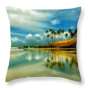 Reflective Beach Throw Pillow
