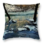 Reflective Chill Throw Pillow