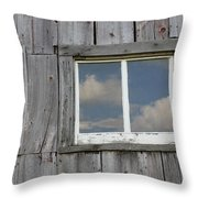 Reflective Clouds Throw Pillow