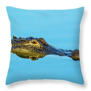 Reflective Gator Throw Pillow