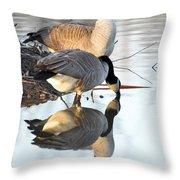 Reflective Geese Throw Pillow