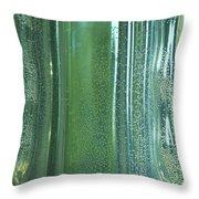 Reflective In Aqua Throw Pillow
