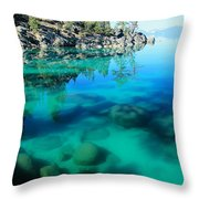 Reflective Liquid Dreams Throw Pillow