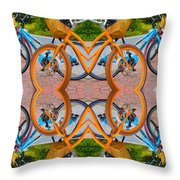 Reflective Rides Throw Pillow