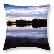 Reflective River  Throw Pillow