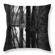 Reflective Tree Throw Pillow