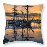Reflectons On Sailing Ships Throw Pillow