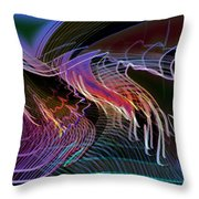 Reflexions Blue Throw Pillow