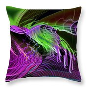 Reflexions Green Throw Pillow