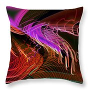 Reflexions Red Throw Pillow