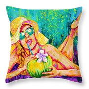 Moment In Paradise, Vacation Painting Throw Pillow