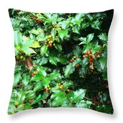 Refreshing Green Throw Pillow
