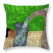 Refreshing Water Throw Pillow