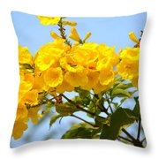 Refreshing Yellows Throw Pillow