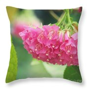 Refreshingly Pink Throw Pillow