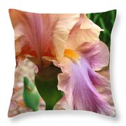 Regal Flower Throw Pillow