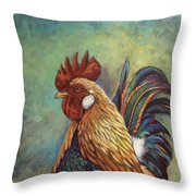 Regal Rooster Throw Pillow