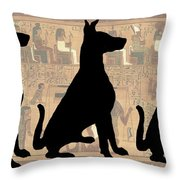 Regal Sit, Ancient Egyptian Background Throw Pillow