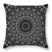 Regalia Black And White No. 4 Throw Pillow