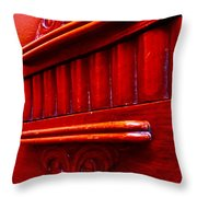 Regally Red Throw Pillow
