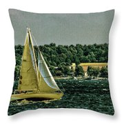 Regatta On Seneca Lake Throw Pillow