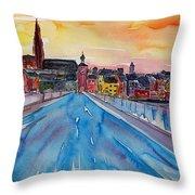 Regensburg Pearl On Danube Germany Throw Pillow