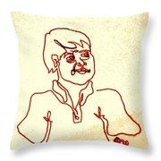 Regular Guy In Polo Shirt Throw Pillow by Sheri Buchheit