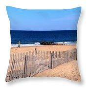 Rehoboth Beach Panorama Throw Pillow