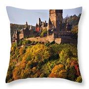 Reichsburg Castle Throw Pillow