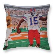 Florida - Tennessee Football Throw Pillow