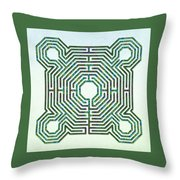 Reims - The Green Path Throw Pillow
