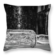 Reisenwebers A 1920s Nyc Speakeasy In Black And White Throw Pillow