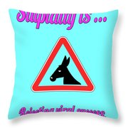 Rejecting Bigstock Donkey 171252860 Throw Pillow