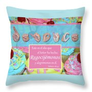 Rejoice And Be Glad Spanish Throw Pillow