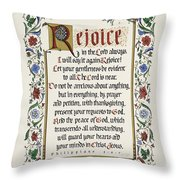 Rejoice II Throw Pillow