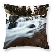 Rejuvenating Eagle Falls Throw Pillow