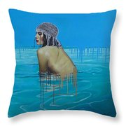 Rela In The Sea Throw Pillow