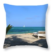 Relax And Enjoy Throw Pillow