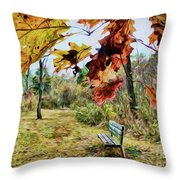 Relax And Watch The Leaves Turn Throw Pillow
