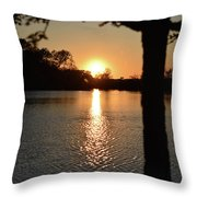 Relax By The Lake Throw Pillow