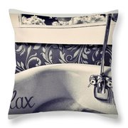 Relax In Blue Throw Pillow