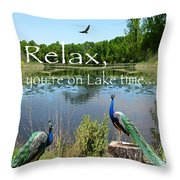 Relax Lake Time-jp2737 Throw Pillow