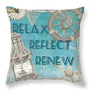 Relax Reflect Renew Throw Pillow